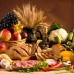 Big collection of carbohydrate - grains fruits and vegetables, good and bad