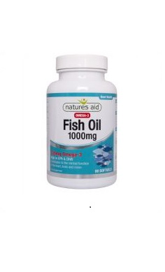 omega 3 Natures Aid Fish Oil 1000mg