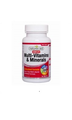 Multivitamin Natures Aid Multivitamins & Minerals