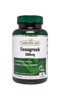 Natures Aid Fenugreek 500mg