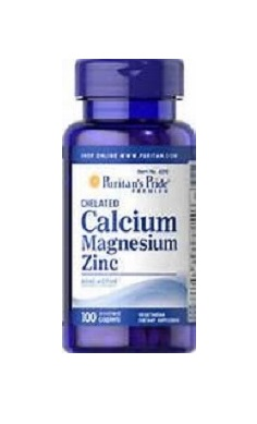 Puritans Pride Chelated Calcium Magnesium Zinc