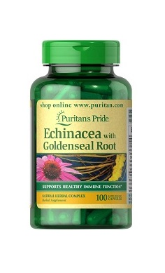 Puritans Pride Echinacea with Goldenseal Root
