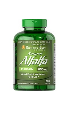 Puritans Pride Natural Alfalfa 650mg