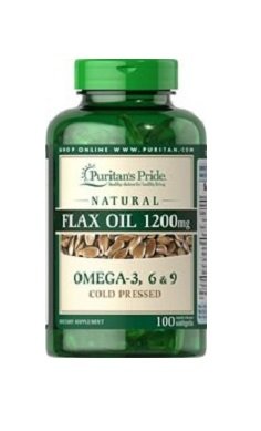 Puritans Pride Natural Flax Oil 1200mg