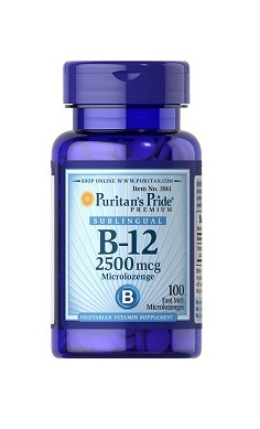 Puritans Pride Vitamin B12 2500mcg sublingual
