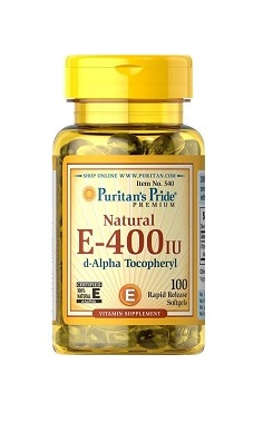 Puritans Pride Vitamin E 400iu 100softgels natural