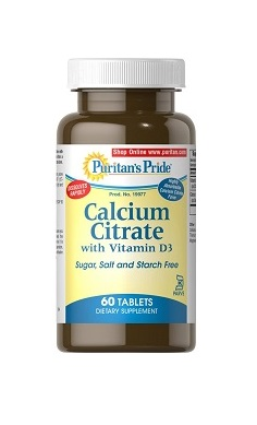 Puritan's Pride calcium citrate with vitamin D3 kosher