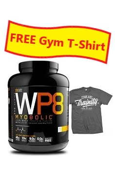 StarLabs WP8 Myobolic 100% Whey Protein + Free Gym T-Shirt