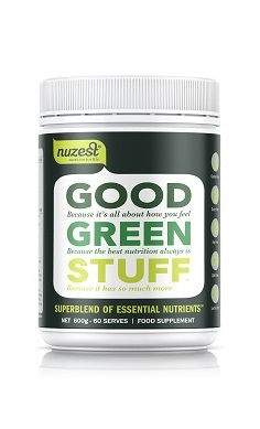 NuZest Good Green Stuff green blend, green juice blend