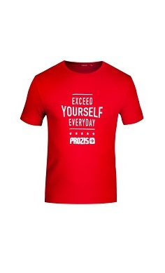 prozis hot summer gym t-shirt red - exceed yourself everyday