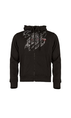 xcore savage ripped hooded jacket hoodie hoody