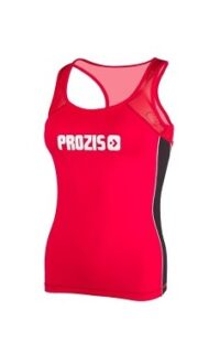 Prozis mesh gym vest tank top red racer back women