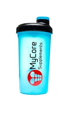 MyCore Supplements Protein Shaker blue