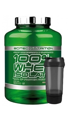 Scitec 100% whey isolate 2000g + free shaker