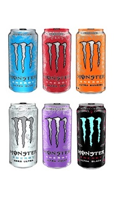 Monster Energy Drinks, contains caffeine | MyCore Supplements