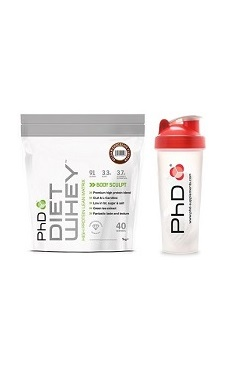 PhD Nutrition Diet Whey Protein Powder + free phd protein shaker