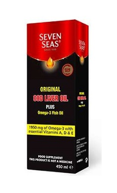 Seven Seas Cod Liver Oil Original plus omega 3 fish oil