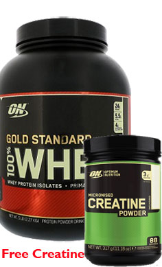 optimum nutrition whey Protein gold standard & creatine