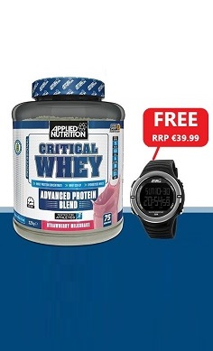 Applied Nutrition Critical Whey Protein + FREE sports watch SMALL