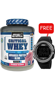 Applied Nutrition Critical Whey Protein + FREE sports watch