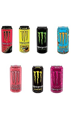 Monster Energy drink + Monster Juice Energy
