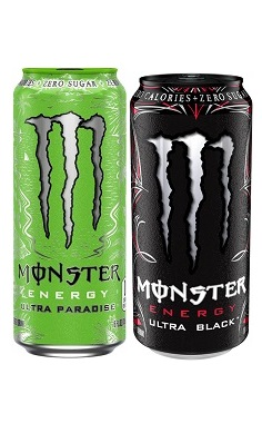 Monster Energy ultra Black - energy drink - Monster Energy ultra Paradise Green