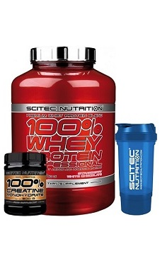 scitec Nutrition 100 whey protein + free creatine + free shaker