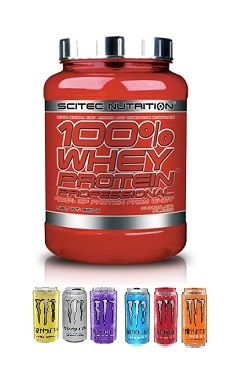 scitec Nutrition 100 whey protein professional monster