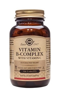 Solgar Vitamin B Complex with Vitamin C Tablets