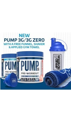 Applied Nutrition pump 3G Pre-workout offer stim free preworkout