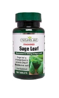 Natures Aid Sage Leaf 500mg