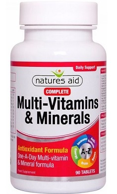 Natures Aid MultiVitamin & Minerals 90 Tabs