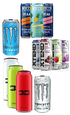 Energy drink pick n mix