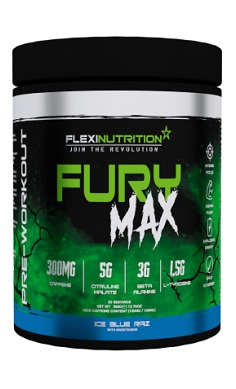 flexi nutrition fury max pre-workout preworkout