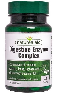Natures Aid Digestive Enzymes 60 Tabs