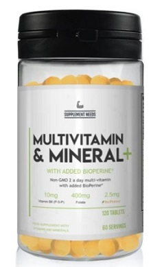 SUPPLEMENT NEEDS MULTI VITAMIN AND MINERAL + - 120 TABLETS