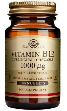 Solgar Vitamin B12 1000mcg sublingual chewable