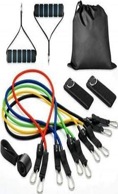 resistance band set 11 piece set