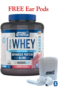 Applied Nutrition Critical Whey Protein FREE ear buds web