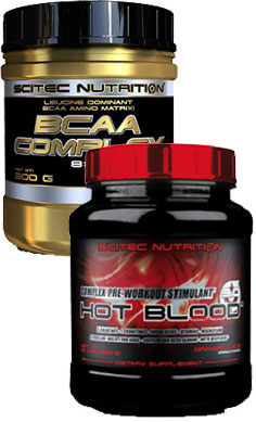 scitec nutrition workout stack - pre workout & intra workout