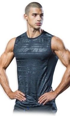 USN Men's Sleeveless Vest - Grey