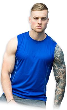 USN Men's sleeveless top blue