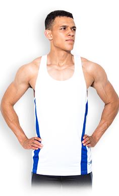 USN Men's training vest white