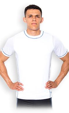 USN men's technical T-shirt white
