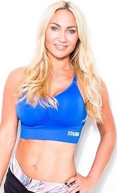 USN women's sports bra blue