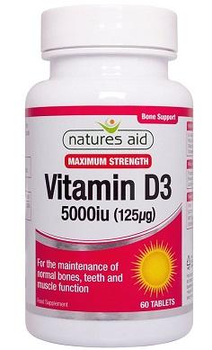 Nature's Aid Vitamin D Vitamin D3 5000iu