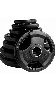 Olympic tri grip weight plates