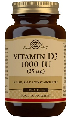 Solgar Vitamin D3 1000IU 25ug